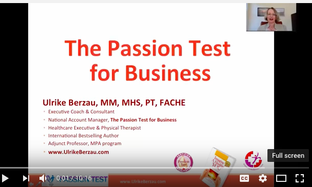 The Passion Test for Business